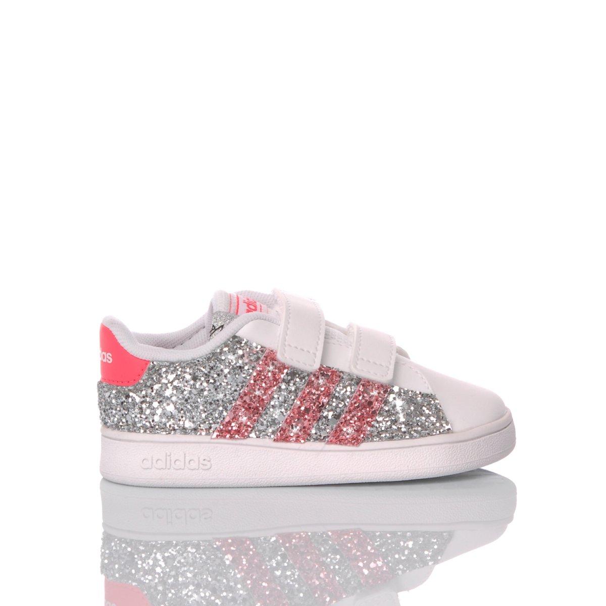 adidas superstar rosa glitter