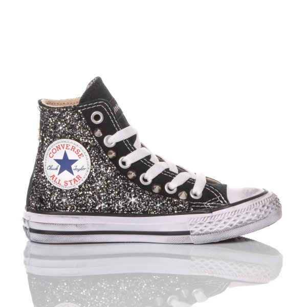 Converse Junior Glitter Black