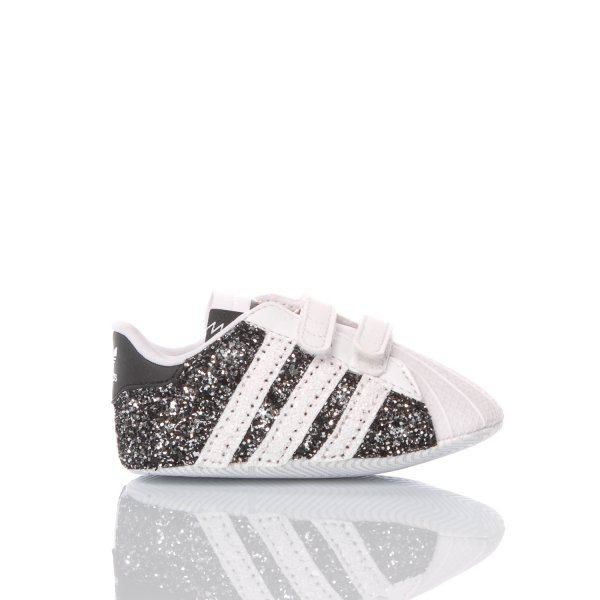 Adidas Superstar Infant Glitter Black