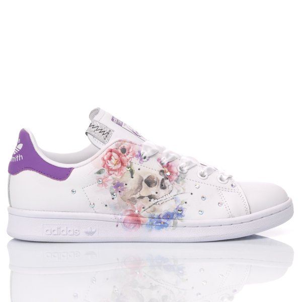 Adidas Stan Smith Floral Skull