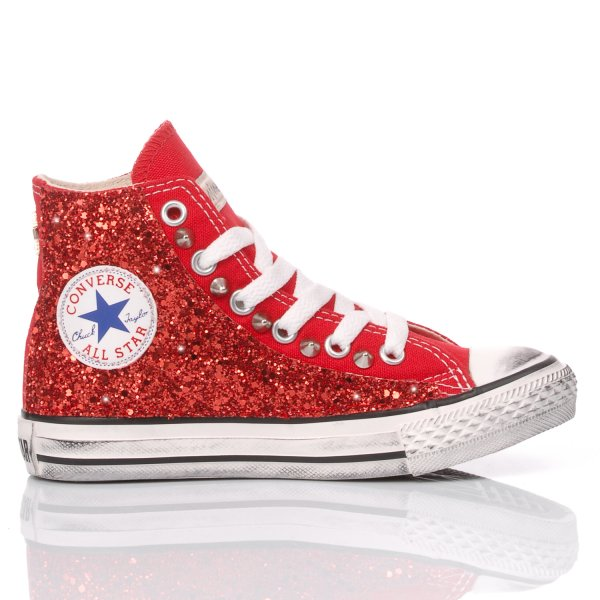 Converse Junior Glitter Red