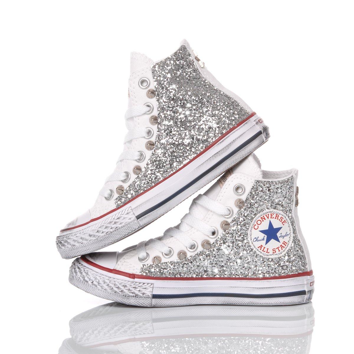 Converse Junior Glitter Silver
