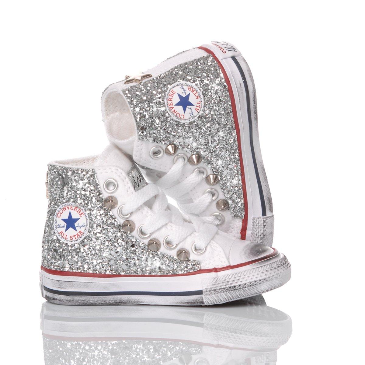 Converse Baby Glitter Silver