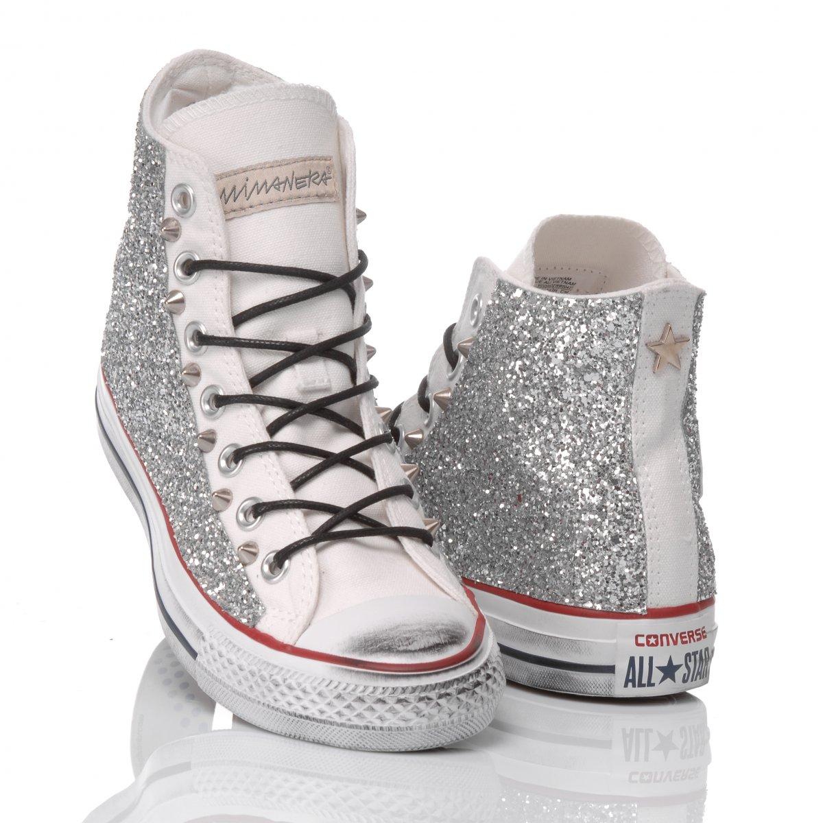 Converse Glitter Silver