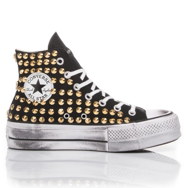 Converse Platform Black Gold Clous