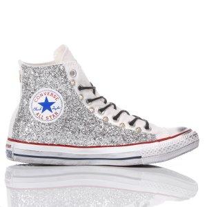 converse glitter argento