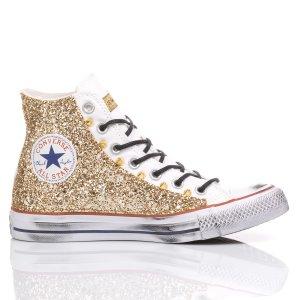 Converse Glitter Gold