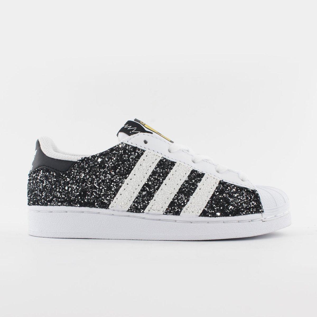 Adidas Superstar Junior Glitter Black