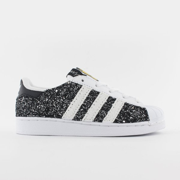 Adidas Superstar Junior Glitter Black