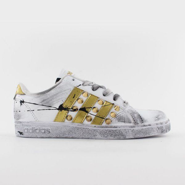 Adidas Junior Gold Paint