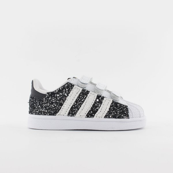 Adidas Superstar Baby Glitter Black