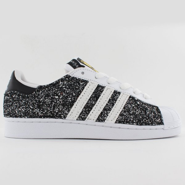Adidas Superstar Glitter Black