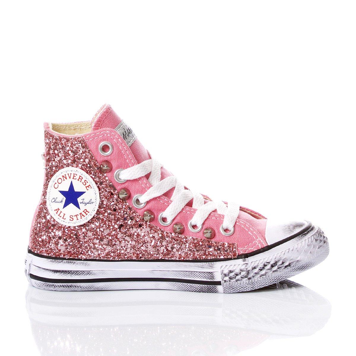 Converse Junior Glitter Pink
