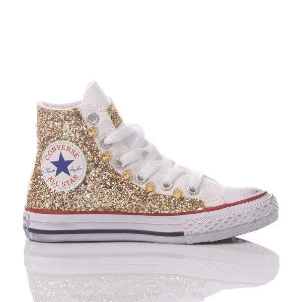 Converse Junior Glitter Gold