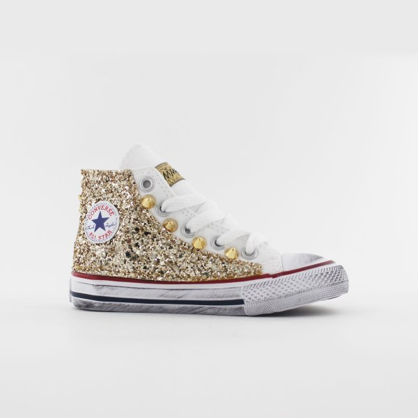 Converse Baby Glitter Gold