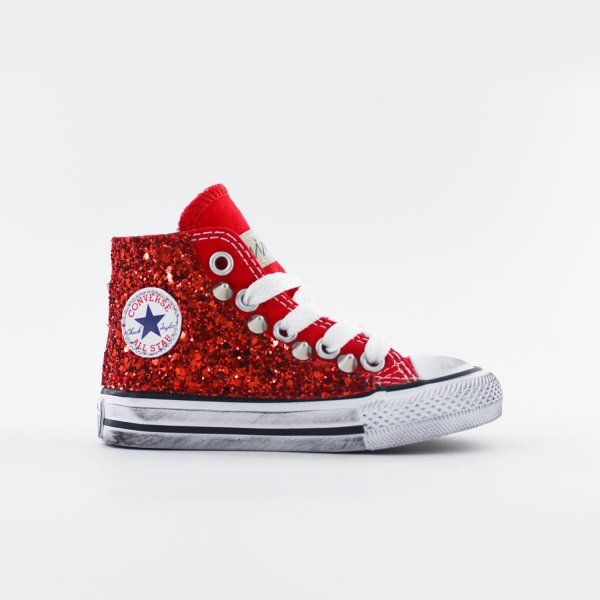 Converse Baby Glitter Red