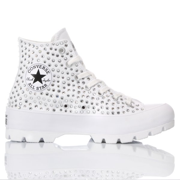 Converse Lugged Swarovski White