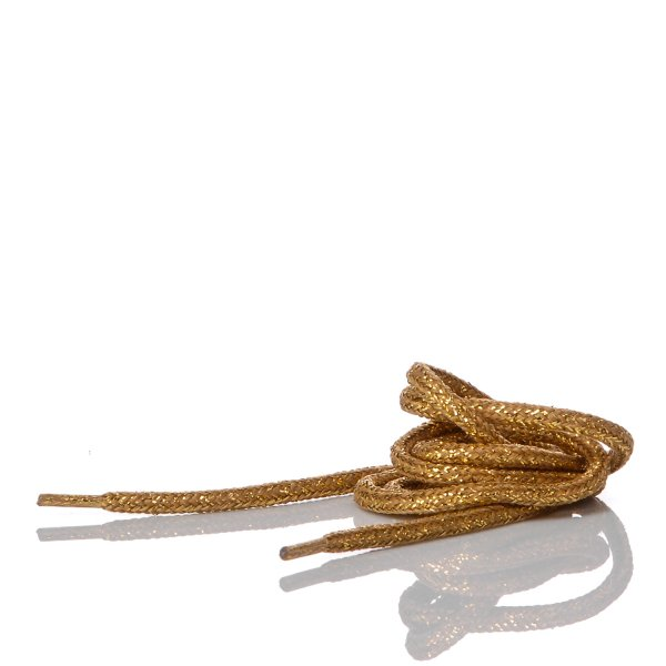 Gold Laminated Laces 90 cm